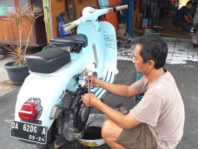 Service Motor Tua Vespa Lawas