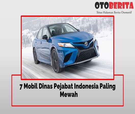7 Mobil Dinas Pejabat Indonesia Paling Mewah