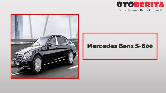 Mobil Dinas Pejabat Mercedes Benz S-600 Terbaru